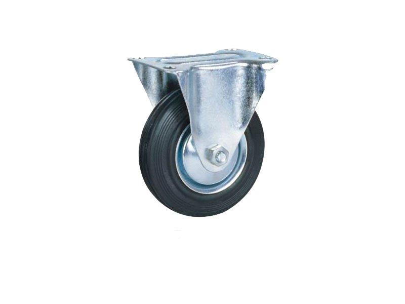 Točkovi za kolica-crna guma FIKSNI