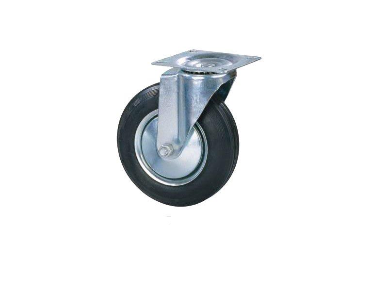 Točkovi za kolica-crna guma OKRETNI